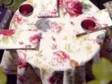 Tischwäsche Rosen natur