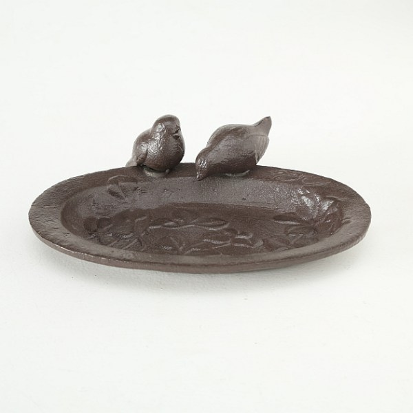 Vogeltränke-Gusseisen-braun