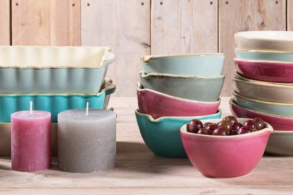 Keramikserie grün und form umbrien