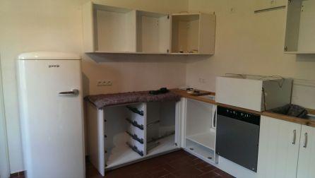 Montage der Küche