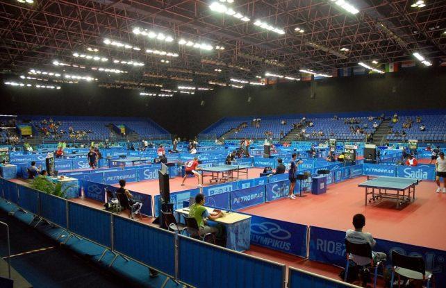Riocentro Pavillon 3 - Austragungsort der Tischtennisspiele während der Olympiade in Rio