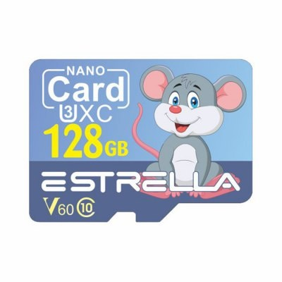 ESTRELLA Cute Cartoon Animal Pattern High Speed Micro SD Card U3XC SDXC V60 Class 10 Memory TF Card 1