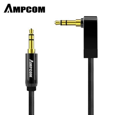 AMPCOM Pro Series AUX 3.5mm Male to Male Audio Cable Stereo Audio Pure Copper Gold Plated 1