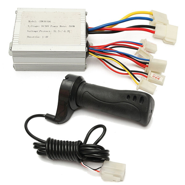 36V 500W Motorcycle Brush Speed Controller & Electric Bike Scooter Grip 1