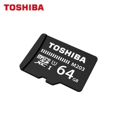 Original TOSHIBA Flash Card M203  Micro SD Card UHS_I  32GB SDHC 64GB 128GB SDXC 1
