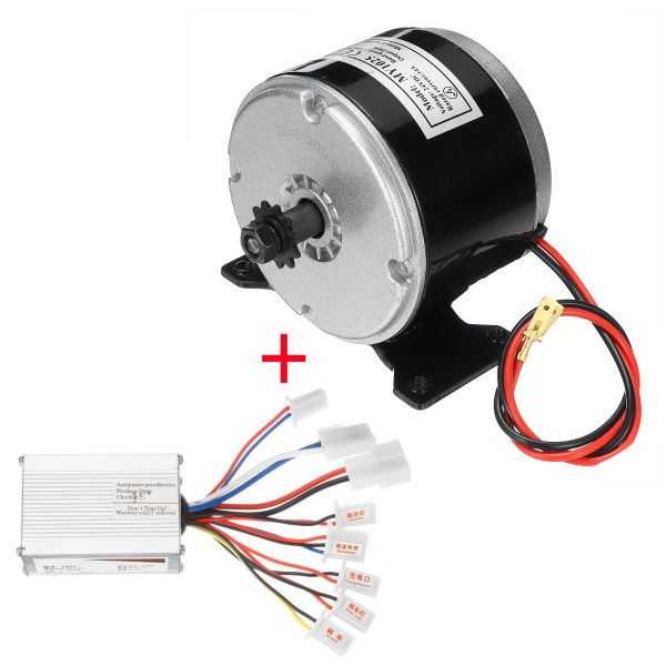 24V 250W Brushed Motor With Controller For 25H Chain Electric Bicycle Scooter E-Bike 1