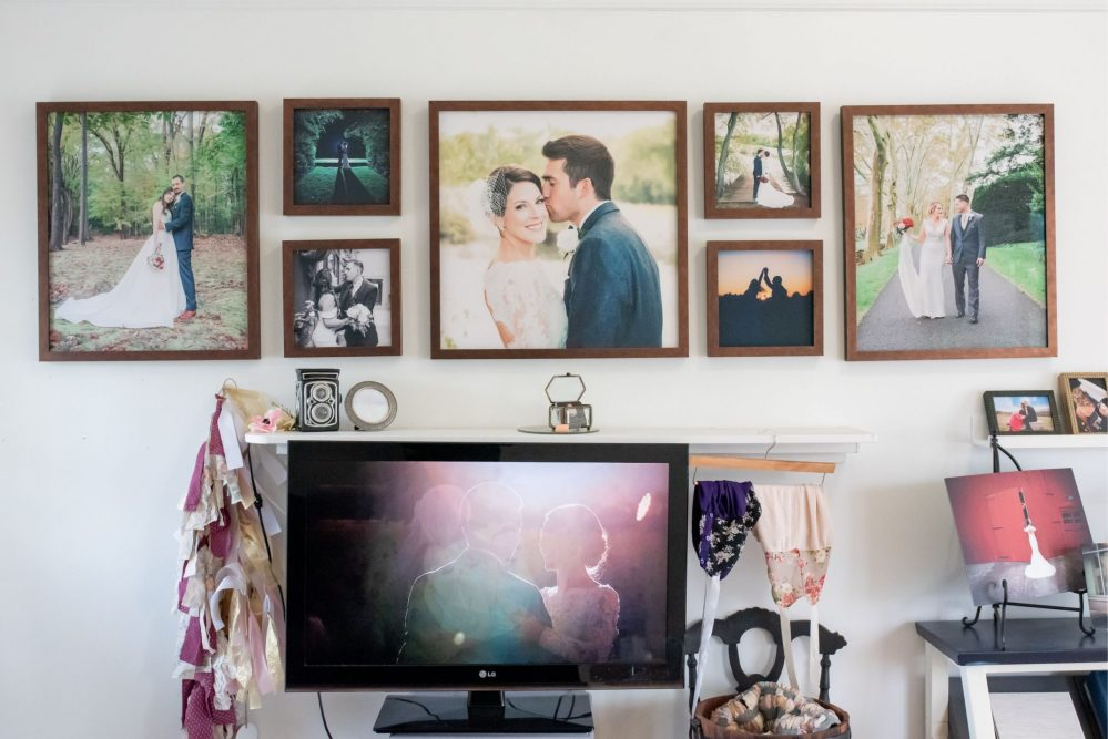 Custom Framed Wall grouping in the camp hill pa studio