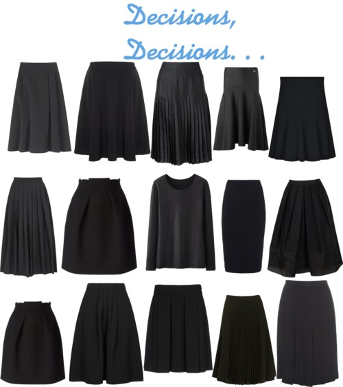 Packing for Paris: Choosing A Black Skirt