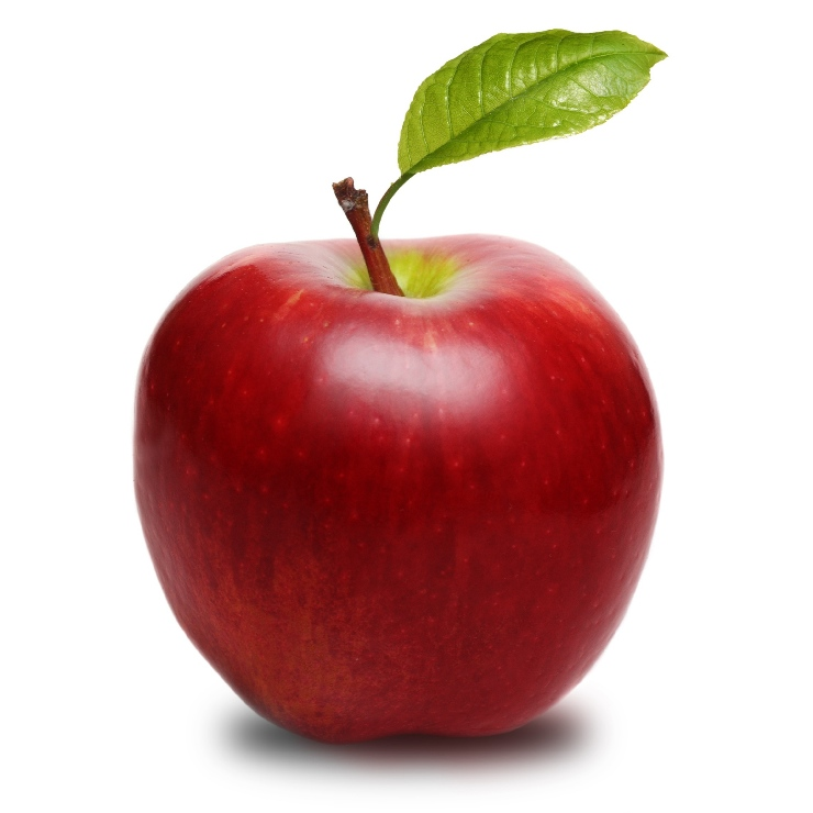 Big red apple.