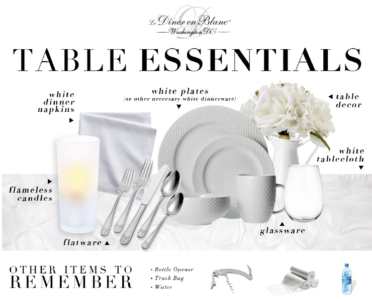 Diner en blanc essentials