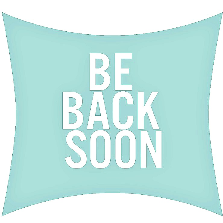 Be Back Soon sign