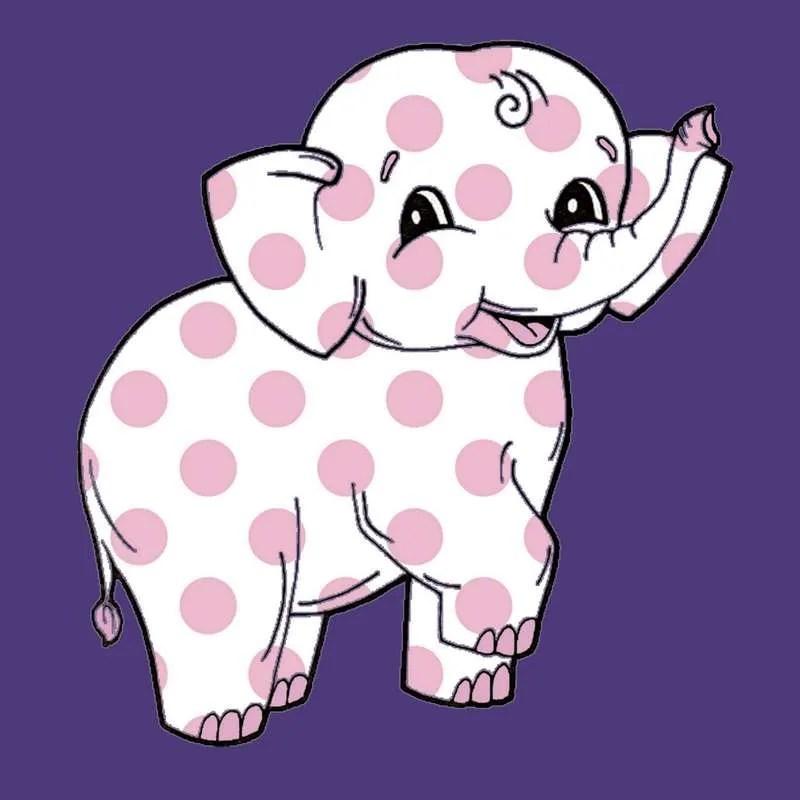 Pink Polka Dot Elephant