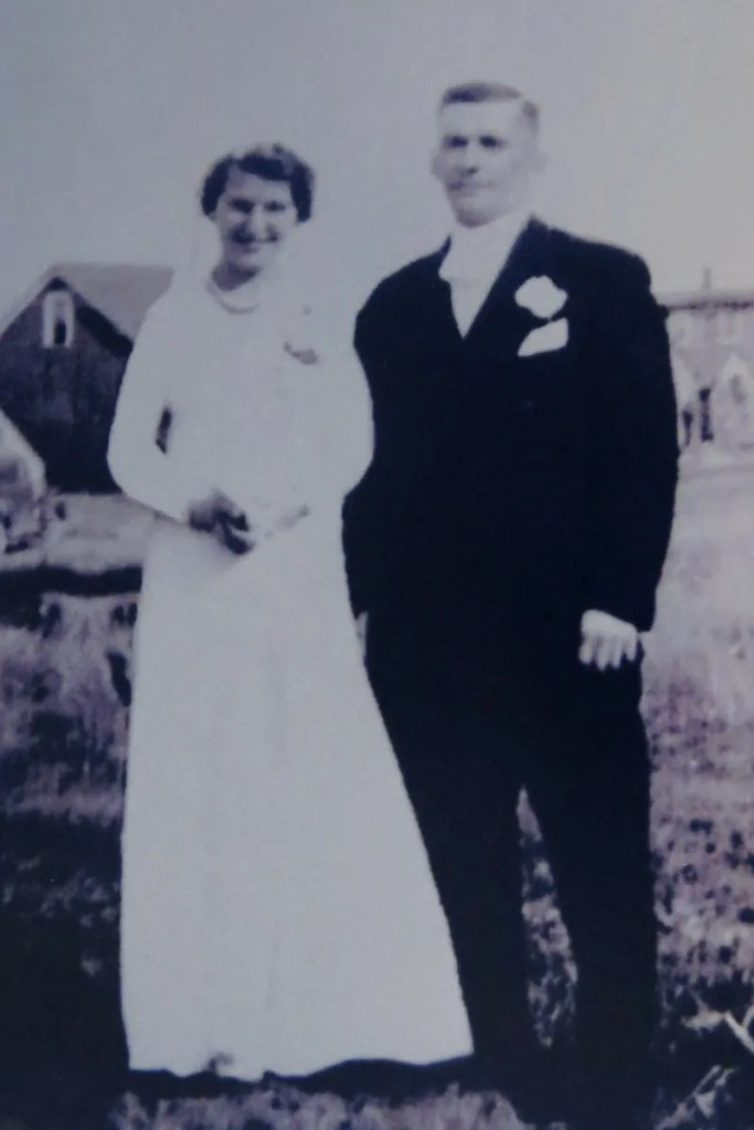 Nanny & Pepere on their wedding day, September 30, 1947