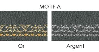cuir de bureau motif a