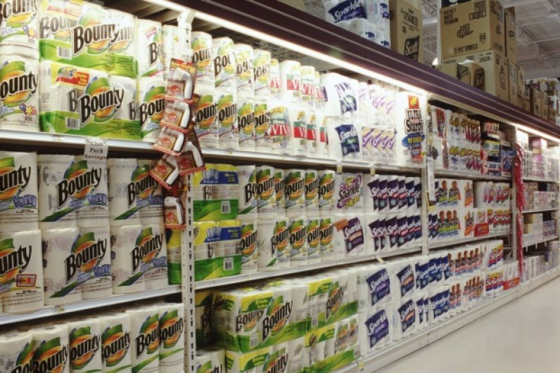 , Paper towels are returning to the shelves and grocery stores are stockpiling goods