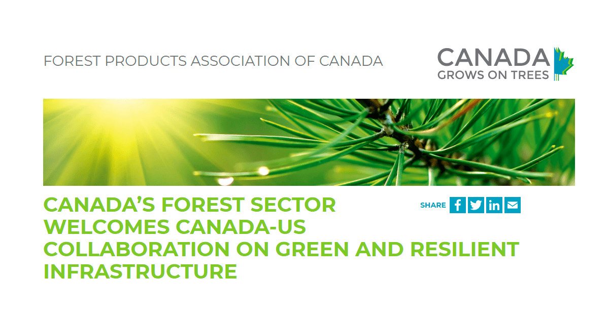 , FPAC welcomes Canada-US collaboration on green and resilient infrastructure