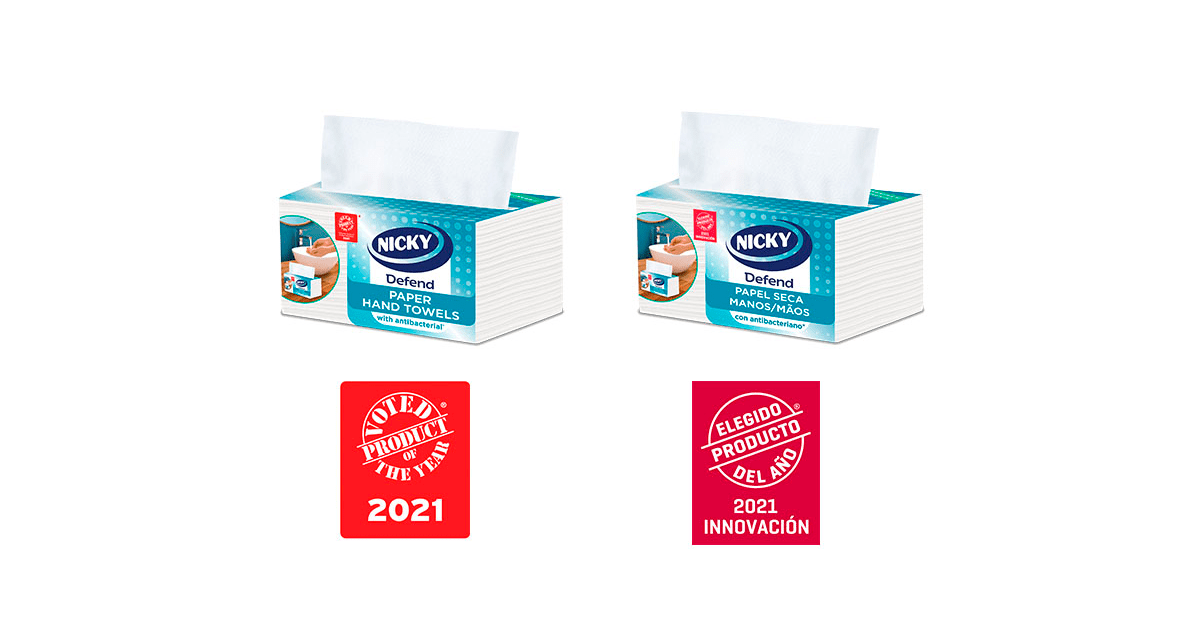 """, Sofidel's Nicky Defend paper towel is chosen as """"Product of the Year"""""""