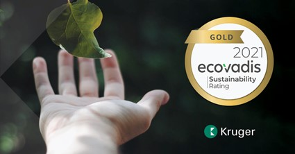 , Kruger Achieves EcoVadis Gold Level Rating