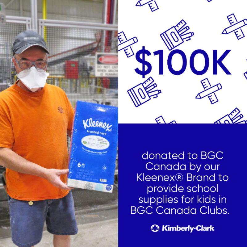 Kleenex partners with BGC Canada to help bring school supplies