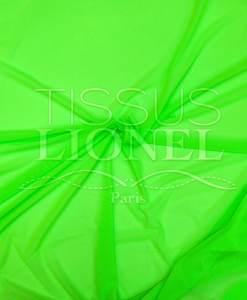 lycra résille fine vert fluo