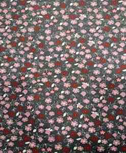 Tissu coton motif florale