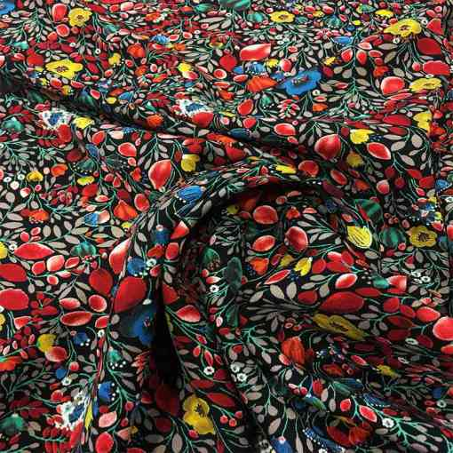 Tissu microfibre motif jardin japonais