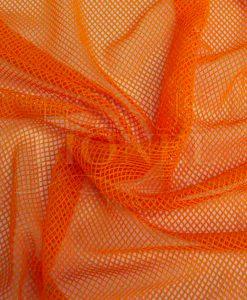 Down orange fishnet