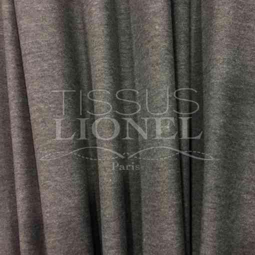 Lycra coton gris chine fonce soft