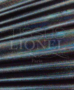 Lycra pailleté multipoint série 1 fond npir pailleté noir hologramme