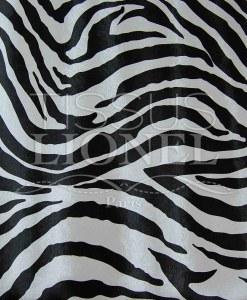 Simili Cuir zébre noir et blanc
