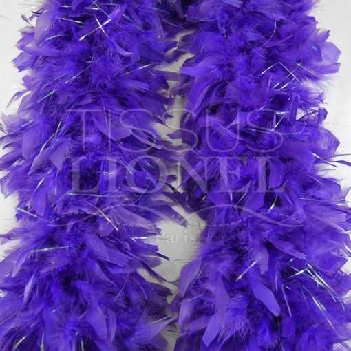 boa avec lurex violet