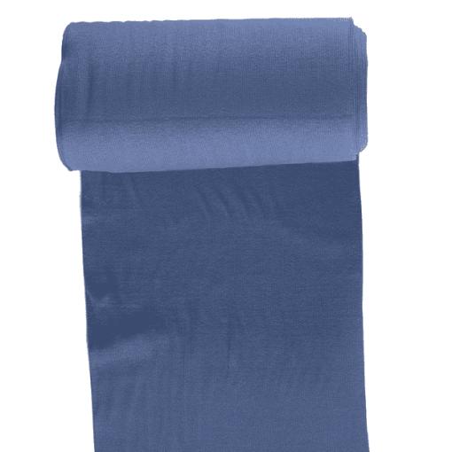 Bord côte jersey tubulaire indigo