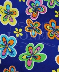 carnaval fleurs colorés sur fond bleu