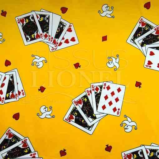 carnaval jeux de carte sur fond jaune