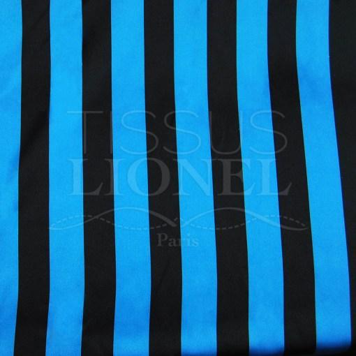 carnaval rayures bleues et noir