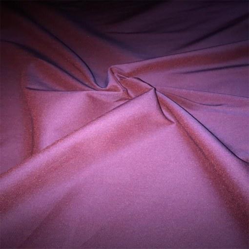 Coton changeant violet et rouge