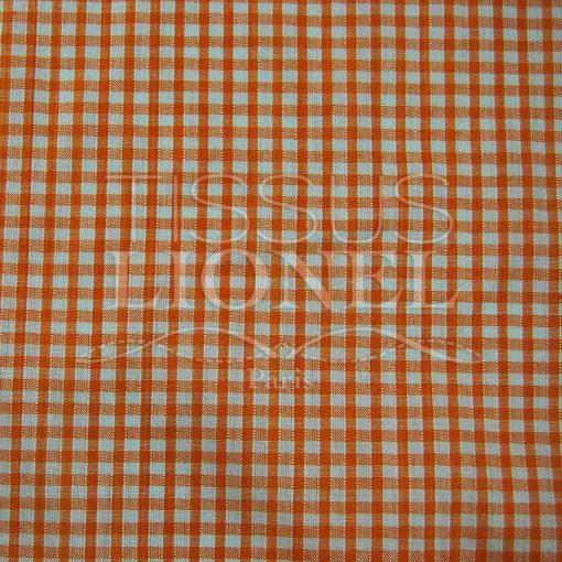 coton imprimé vichy orange 020