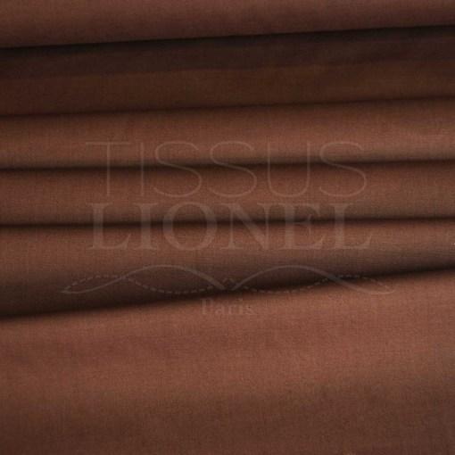coton uni marron
