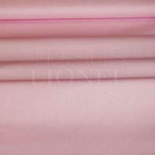 coton uni rose pale