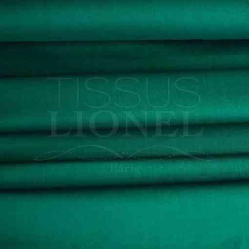 coton uni vert canard