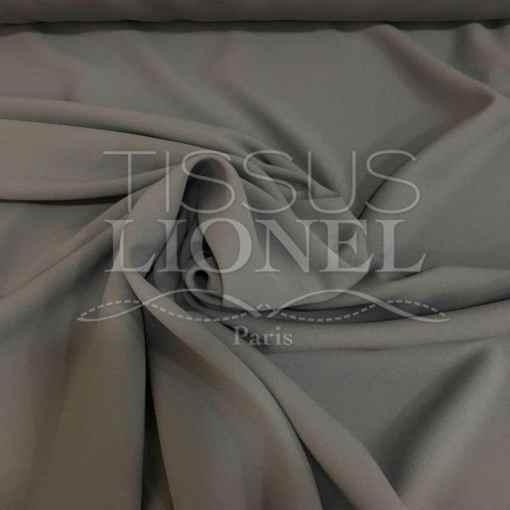crêpe couture gris moyen