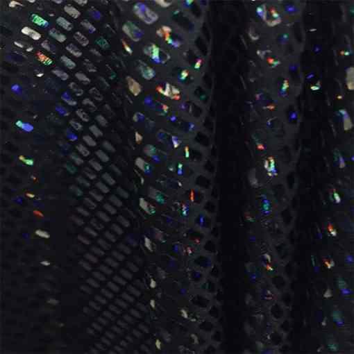 Élasthanne paillete hologramme noir sur noir
