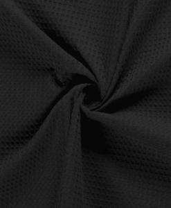 Tissu éponge nid d'abeilles noir