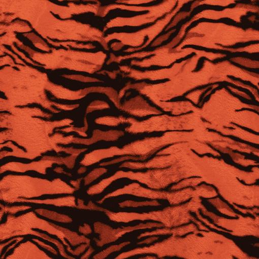 Fourrure velboas tigre orange