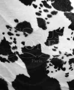 меховые velboas напечатаны черно-белая корова