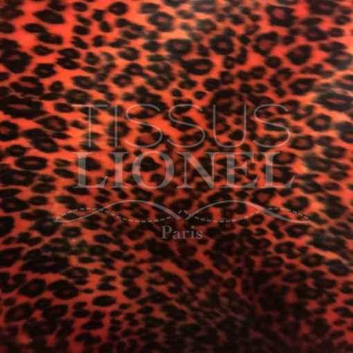 Fourrure velboas leopard orange