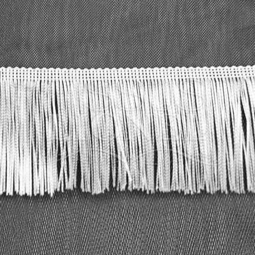 frange 10 cm blanc