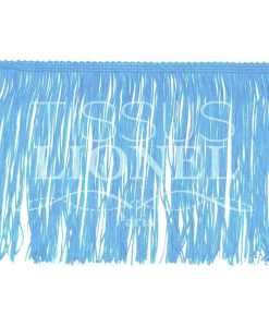 frange 15 cm bleu ciel
