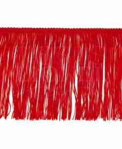 frange 15 cm rouge