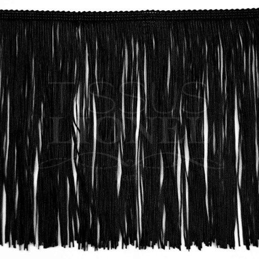 frange 30 cm noir
